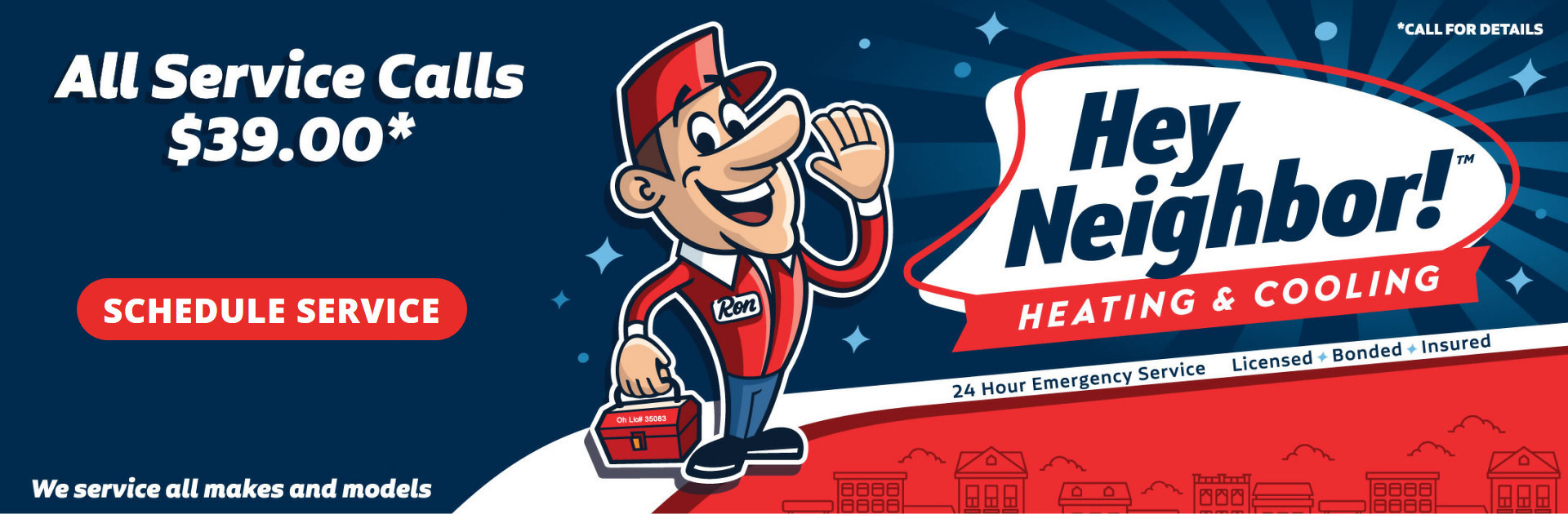 Call Hey Neighbor Heating & Cooling for expert HVAC service and installation in Northeast Ohio!