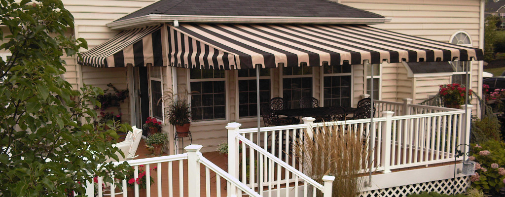 In addition to being an attractive addition to your home, an awning can cut your cooling costs!
