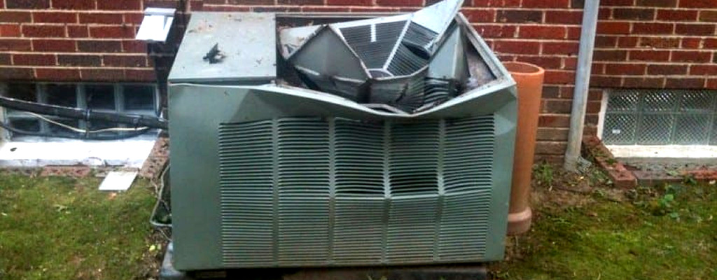 It won't always be this obvious that it's time for a new AC. Here's how you can tell when it's time to upgrade.